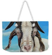 Old Goat - Painting By Cindy Chinn Weekender Tote Bag