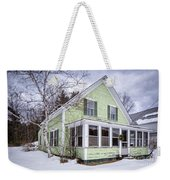 Old Green And White New Englander Home Weekender Tote Bag