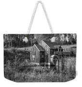 Old Grist Mill In Vermont Black And White Weekender Tote Bag