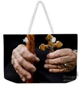 Old Hands And Crucifix  Weekender Tote Bag