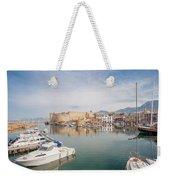 Old Harbour Of  Kyrenia, In Cyprus Weekender Tote Bag