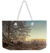 Old Harvester By The Birch Tree Weekender Tote Bag