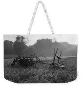 Old Hay Baler In Misty Field Weekender Tote Bag