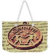 Old Horoscope Of Gemini Weekender Tote Bag