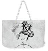 Old Horse Blinker Patent Weekender Tote Bag