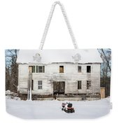 Old House In The Snow Springfield New Hampshire Weekender Tote Bag