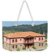 old house Sithonia Greece summer vacation scene Weekender Tote Bag