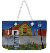 Old House With Lamppost Weekender Tote Bag