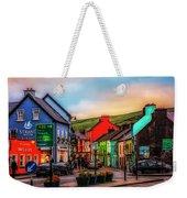 Old Irish Town The Dingle Peninsula At Sunset Weekender Tote Bag
