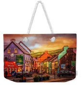 Old Irish Town The Dingle Peninsula Late Sunset Weekender Tote Bag