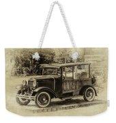 Old Jalopy In Wiscasset Weekender Tote Bag