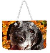 Old Labrador Weekender Tote Bag by Amy Vangsgard