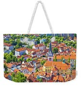 Old Ljubljana Cityscape Aerial View Weekender Tote Bag