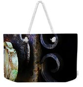 Old Lock On A Cast Iron Gate Weekender Tote Bag