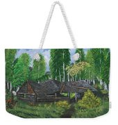 Old Log Cabin And   Memories Weekender Tote Bag