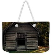 Old Log Cabin Weekender Tote Bag