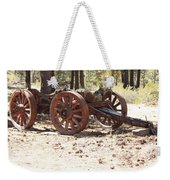 Old Logging Wagon Weekender Tote Bag