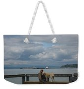Old Man And His Dog Weekender Tote Bag