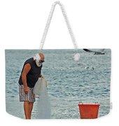 Old Man And The Net Weekender Tote Bag