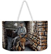 Old Man On A Donkey Weekender Tote Bag
