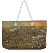 Old Manhattan Historic Illustration Weekender Tote Bag