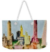 Old Manhattan Weekender Tote Bag