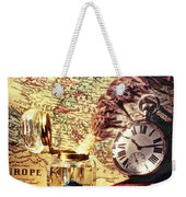Old Maps And Ink Well Weekender Tote Bag