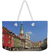 Old Marketplace And The Town Hall Poznan Poland Weekender Tote Bag