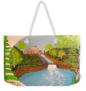 Old Mill And Falls Weekender Tote Bag