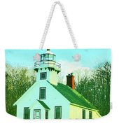 Old Mission Point Lighthouse Weekender Tote Bag