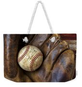 Old Mitt And Baseball Weekender Tote Bag by Garry Gay