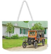 Old Model T Ford In Front Of House Weekender Tote Bag