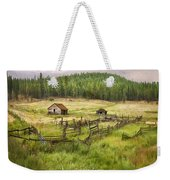 Old Montana Homestead Weekender Tote Bag by Sharon Foster