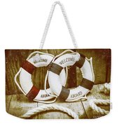 Old Nautical Art Weekender Tote Bag