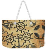 Old Nautical Parchment Weekender Tote Bag