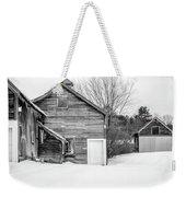 Old New England Barns In Winter Weekender Tote Bag