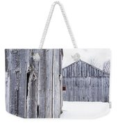 Old New England Barns Winter Weekender Tote Bag