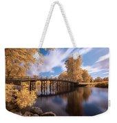 Old North Bridge In Infrared Weekender Tote Bag by Brian Hale