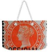 Old Orange Halfpenny Stamp  Weekender Tote Bag