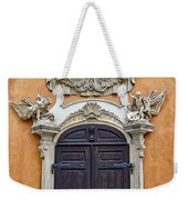 Old Ornate Door At The Cesky Krumlov Castle At Cesky Krumlov In The Czech Republic Weekender Tote Bag