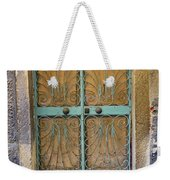 Old Ornate Wrought Iron Door In Venice, Italy  Weekender Tote Bag