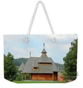 Old Orthodox Wooden Church On Hill Weekender Tote Bag
