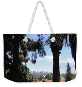 Old Palm Trees And Downtown Los Angeles Weekender Tote Bag