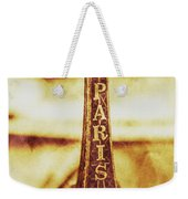 Old Paris Decor Weekender Tote Bag