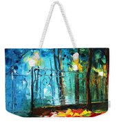 Old Park 2 - Palette Knife Oil Painting On Canvas By Leonid Afremov Weekender Tote Bag