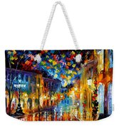 Old Part Of Town - Palette Knife Oil Painting On Canvas By Leonid Afremov Weekender Tote Bag