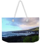Old Pier At Honuapo Bay Weekender Tote Bag