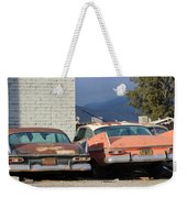 Old Plymouths With Mountain View  Weekender Tote Bag