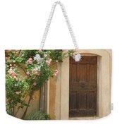 Old Provence Door And Rose Tree Weekender Tote Bag