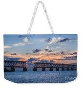 Old Rail Bridge At Florida Keys Weekender Tote Bag